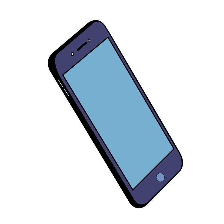 Phone White BG